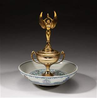 Designed Chinese Douchait Porcelain Central Piece