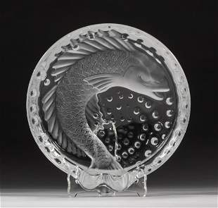 France Lalique Crystal Annual Dish Bowl