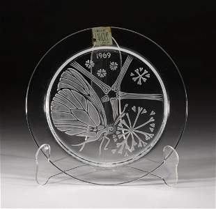 France Lalique Crystal Annual Plate 1969