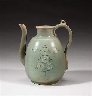 Korean Buncheong Porcelain Tea Pot