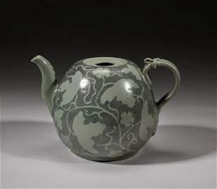 Korean Buncheong Slip-Inlaid Porcelain Tea Pot
