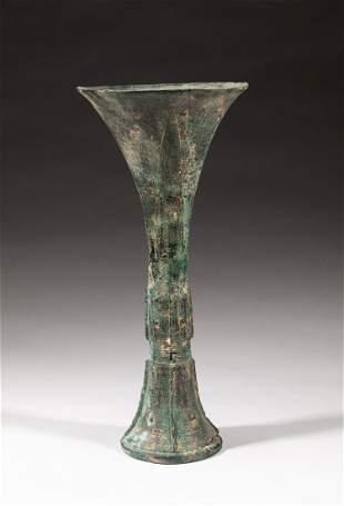 Chinese Bronze Gu Type Vase