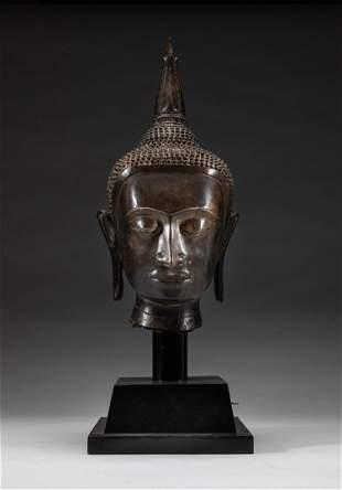 Rare Indian Bronze Buddha Head