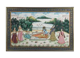 Collectible Indian Hang Painting on Silk