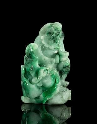 Chinese Export Jade Jadeite Carving