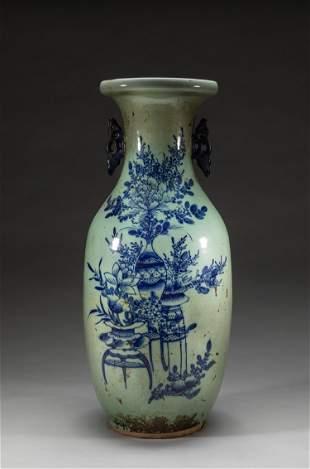19th Large Chinese Porcelain Vase