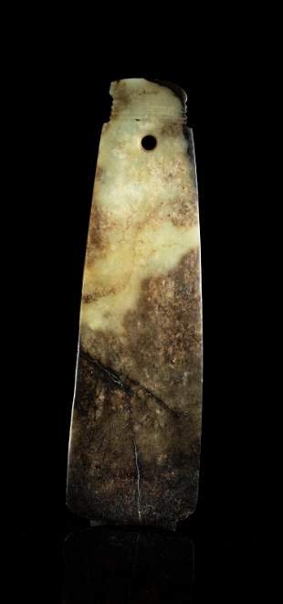 Large Chinese Jade Axe Blade