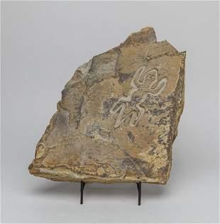 Native American Petroglyph Carved Rock Stone