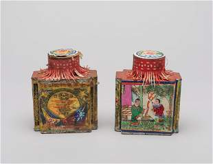 Set Chinese Old Tea Tins