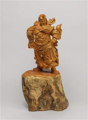 Chinese Carved Wood Table Sculpture