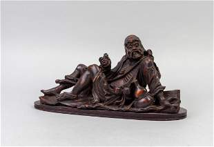Chinese Table Sculpture of Luohan