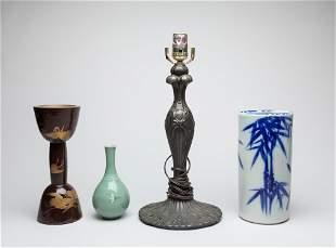 Estate Asian Porcelain/Candle Sticks