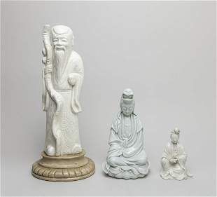 Set Chinese Export Blank De Porcelain Figures