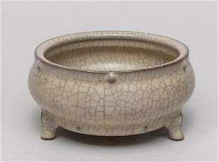 Chinese Ge Type Porcelain Censer