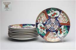 Sets Japanese Imari Porcelain Plates