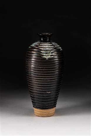Korean Josen Type Flambed Glazed Water Pot
