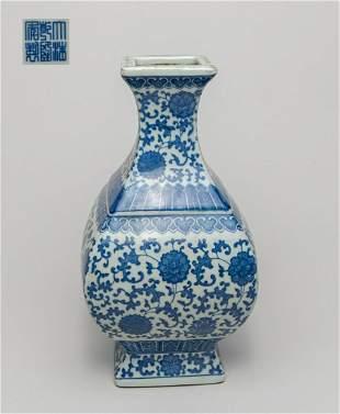 Chinese Blue White Porcelain Decor Vase