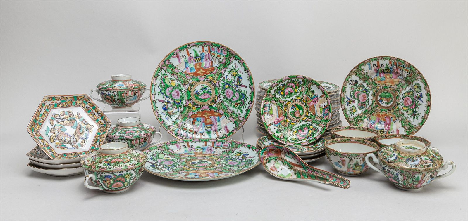 Group Chinese Export Famille Rose Porcelain