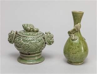 Set Chinese Celadon Glazed Porcelain Wares