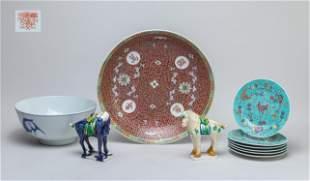 Group Chinese Export Glazed Porcelains
