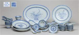Lg Group Chinese Blue White Porcelain Wares