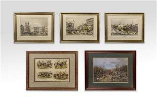 Set Collectible Wall Hanging Lithographs