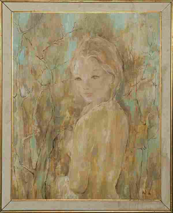 Signed Oil Painting on Canvas Girl