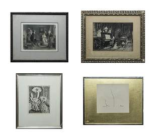 Group Collectible Art Lithographs