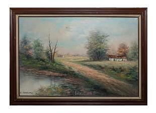 Framed Oil Painting of Landscapes