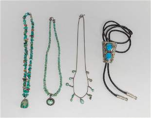 Collectible Native American Type Turquoise Jewelries