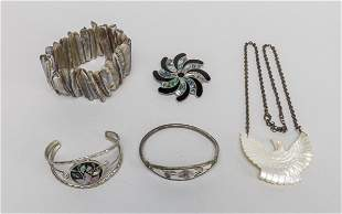 Collectible Silver/Mother of Pearl Jewelries