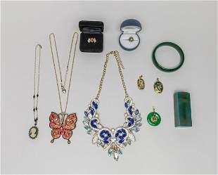 Estate Chinese Jade/Designed Custom Jewelries