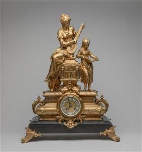 France Louis XVI Type Gilt Clock