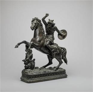 Designed Table Sculpture of Forest Warrior