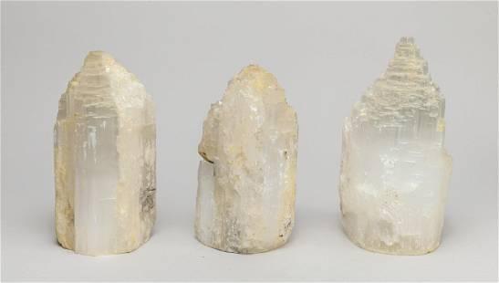 Group Selenite Crystal Tower Lamps