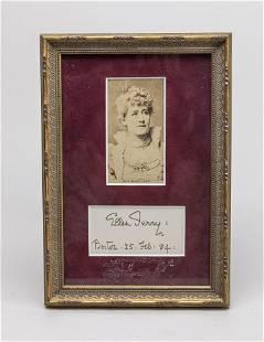 Antique 1884 Miss Ellen Terry Photo