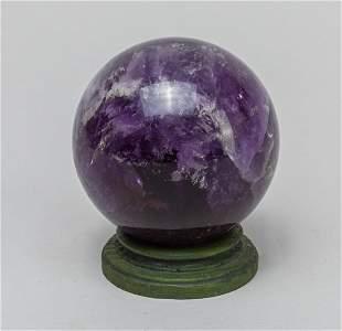 Collectible Amethyst Ball Table Decor