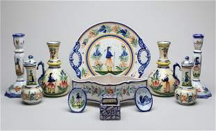 Set Rare Henriot Quimper Pottery Wares
