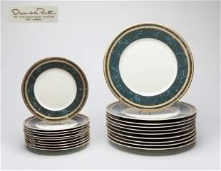 W German Oscar De la Renta Porcelain Plates