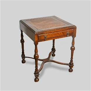 Midcentury Modern Wood Game Table