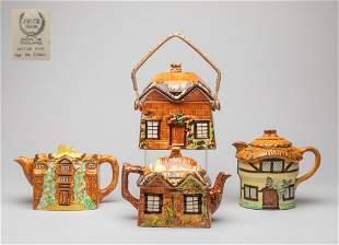 Group English Porcelain Tea Pots