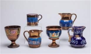 English Gold Enameled Porcelain Sets