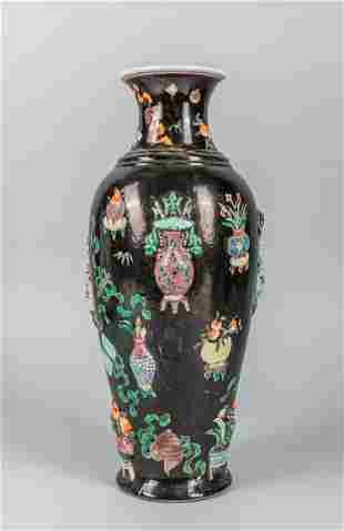 Chiese Famille Rose Porcelain Vase