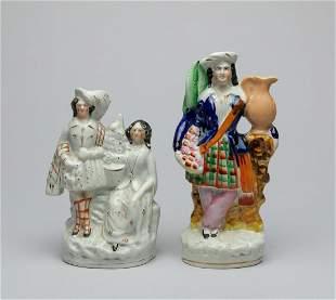 Set Antique English Famille Rose Porcelains