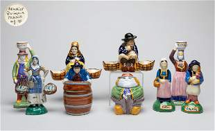 Malicorne Quimper French Faience Pottery Figures