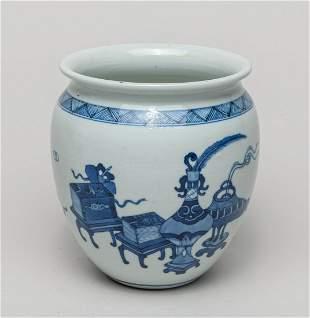 Chinese Export Blue White Porcelain Jar