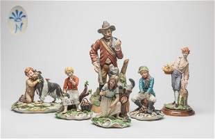 Italian Capodimonte Art Porcelain Figures
