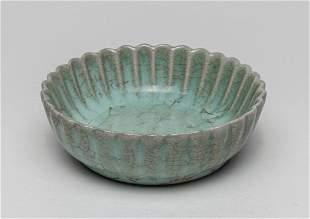Chinese Celadon Glazed Porcelain Lotus Brush Washer