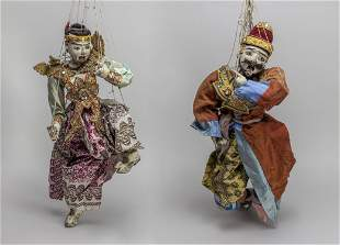 Chinese Early Antique Wooden String Puppet