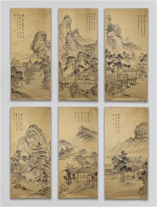 Collectible Chinese Old Water Color Paintings